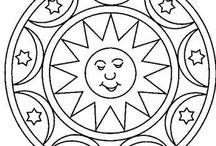 мозаика в круге