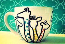Giraffentassen / Tassen, auf denen Giraffen sind...