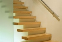 House design - interior / Floating staircase