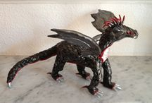 dragon ooak en super sculpey / sculpture en super sculpey