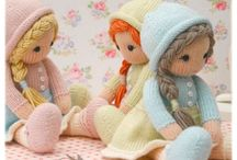 Little Yarn Dolls.... / A PDF knitting pattern to make a little yarn doll....