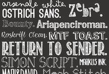 Text/Fonts / by I Restore Stuff /Sharon