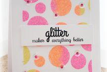 Reverse Confetti cards I {heart}