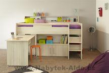 """""""Chytré"""" dětské postele / Důmyslný design dětských postelí, který ušetří místo v každém pokojíčku a hodí se tedy zejména do menších bytů, nebo když chcete, aby děti měly dostatek prostoru na hraní"""