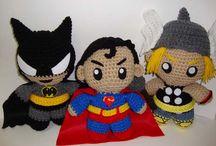 Crochet - Super, Movie & Gaming Heroes / Amigurumi Dolls of the hero persuasion...