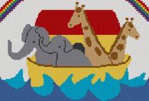 Noah's ark afghan