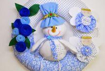 Corona de niño de nieve