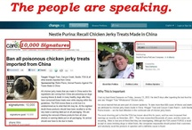 Chicken Jerky Petitions / Please join our fight to recall Chicken Jerky dog treats made in China! / by Animal Parent