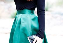 navy and emerald