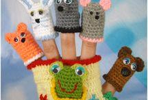 Пальчиковые игрушки / Вязаные пальчиковые игрушки