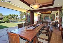 Hawaii Homes: Dining Rooms / Some of our favorite dining rooms in homes around Maui, Hawaii.