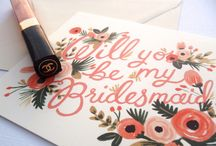 #Be #My #Bridesmaid / So just how do you ask someone special to #be your #bridesmaid, lets hope these pins give you some inspiration