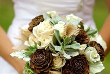 Wedding: Precious Pine Cones and Succulents / Tones of teal, accented with cream and the natural beauty of pine cones,succulents and burlap.