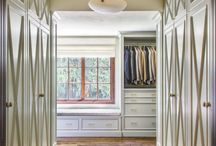 Walk in closet and wardrobes