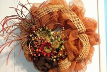 Fall  / Fall Decor Custom, Hand Made Wreaths by Tangled Wreaths™ ~ Home Decor  https://www.facebook.com/TangledWreaths