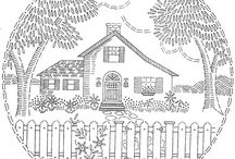 Vintage Embroidery Designs / A Sweet Collection of Vintage Embroidery Designs Available Online / by Victoriana Quilt Designs