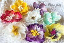 цветы из влажных салфеток