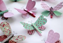 butterfly clothes pin