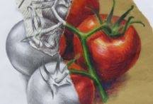 Fruit and Veg Observational Drawings