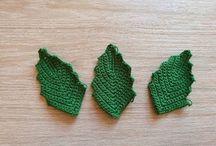 liście na szydełku