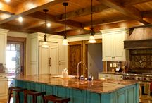 Timber Frame Homes Kitchen Inspiration / The kitchen is the heart of every home. And these inspiring examples show what's possible in timber frame home design and decor.