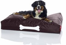 Dog lounger / Super comfy and practical fatboy doggie loungers in nylon and stonewash cotton. Available from Desert River