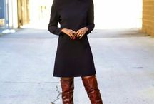 {Knee-High Boots Outfits}