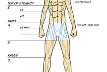 Manga Anatomy Modelsheets