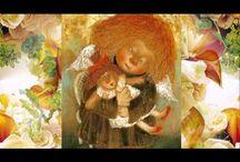 """Солнечные ангелы Галины Чувиляевой / «Я вкладываю всю свою любовь и душевное тепло в глаза моих ангелов, чтобы смотрящий в них мог полностью забыть о своих печалях.»  """"I put all my love and warmth in the eyes of my angels to looking at them could completely forget about their sorrows."""""""