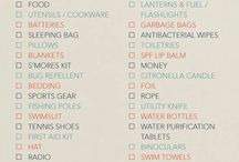 Camping packing lists