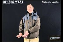 Things to Wear for Fishing / Kokanee Jacket STYLE#: 5750 WEIGHT: 2.0lbs SIZES: M-3XL FEATURING: • 100% Seam-Sealed • 100% Windproof • Fixed Hood With 2-Way Adjustability • Hood Folds Up and Under Collar • Double Storm Plackets With Snaps Over Heavy Duty 2-Way Zipper • (2) Deep Chest Pockets With Weatherproof Zippers • Zippered Sherpa Fleece Lined Handwarmer Pockets • Neoprene Storm Cuffs With Adjustable Web Belt • Over Sized D-Rings At Hem For Gear • Bottom Draw Cord Hem • Taffeta Lined