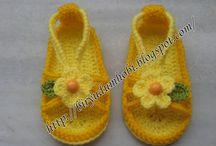 Crochet - Zapatitos bebe