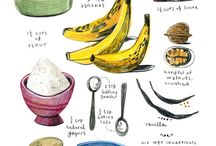 Illustrated Recipes / Quirky digital and traditional-media recipe illustrations