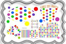 My Polka Dot Maker / Printable polka dot paper, templates, labels, cupcake wrappers and party goodies.  I go {dotty} over here! Like someone who has lost their marbles...