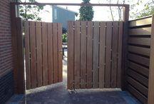 Maatwerk tuindeuren of schuttingdeuren / Hier vindt u tuindeuren die we kunnen maken in afmetingen van 80cm. tot en met 200cm. breed