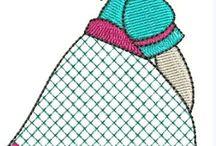 Aplikacje i naszywki / Wzory aplikacji i naszywek do zastosowania na wszelkiego rodzaju przedmiotach np. poduszkach, makatkach, torebkach czy pudełkach