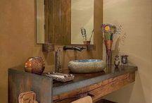 Aseos / Ideas para baños rústicos