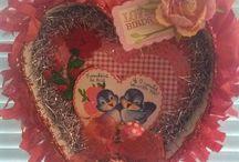 Handmade Valentines / Handcrafted valentines.