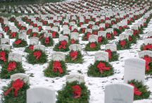 Winter and Holiday Graveyards / Beautiful graveyards during winter and the holiday season.