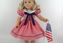 "027 PATRIOTIC - 18in Dolls / Three Cheers for the Red, White & Blue!!! PATRIOTIC outfits for our 18"" friends. Patriotic celebrations."