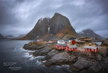 Reine red houses