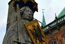 Bremen, Germany / Bremen is a vibrant, colorful city; its streets lined with centuries old buildings. It is also home to a UNESCO World Heritage Site -- 600 year old Town Hall and statue of Roland.