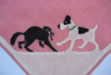 Cats & Dogs / Animals, especially cute and kitschy cats and dogs, were a favorite motif in vintage needlework designs.