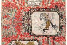 Emma Talbot silkscreens