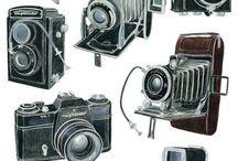 Vecchie Glorie / Macchine fotografiche antiche / by Carlo Cianetti