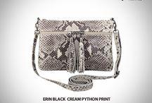 Erin Taupe python shoulder bag