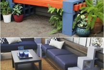 Cinder Block Furniture / Did you know cinder blocks could be used to create some inexpensive and fun outdoor furniture pieces? These are definitely some ideas that I will have to try.