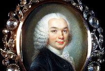Portrait miniature / Précieux portrait miniature , vers 1750. Jaegy-Theoleyre . Com