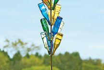 Дача стеклянные бутылки в интерьере
