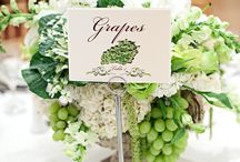 Fruits, Veggies and Your Wedding..... / Beautiful wedding arrangements made with fruits and vegetables